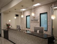 Star Clinic's office reception desk